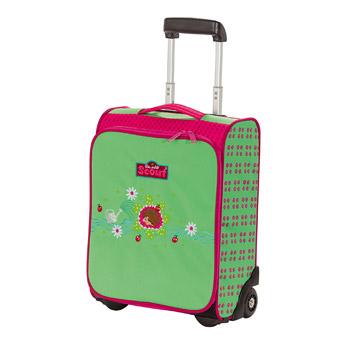 Geschmackssache: Grün und Pink auf dem Igel-Kindertrolley von Scout
